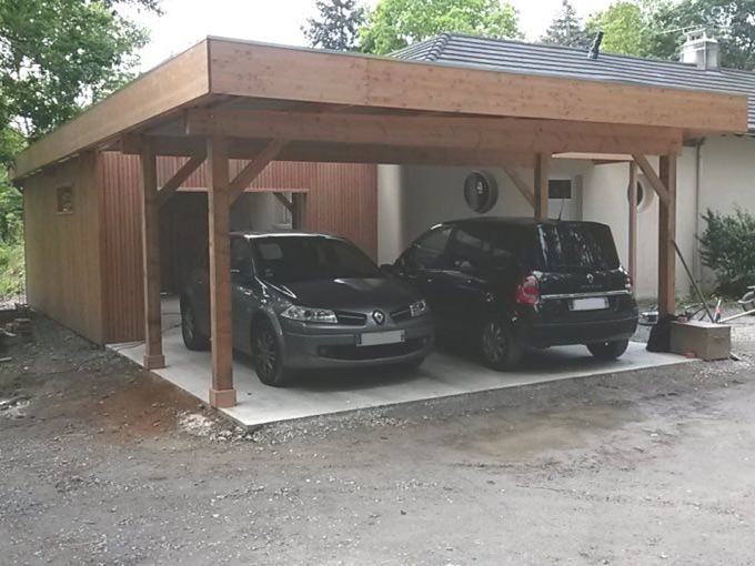 Nantes carport bardage bois pornic