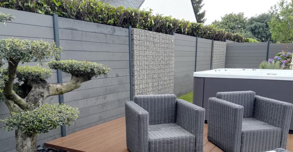 pornic clôtures composite bali gris 44